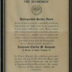 Distinguished Service Award proclamation, issued May 23, 1975.